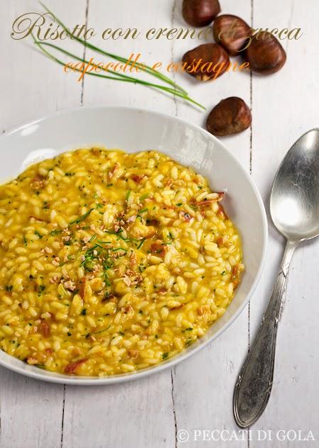 cucina e ricette-risotto con zucca castagne e capocollo