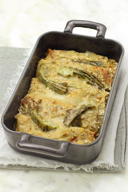 cucina e ricette-Crespelle di ceci e grano saraceno ai carciofi