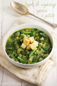 cucina e ricette-Zuppa di asparagi, spinaci e patate