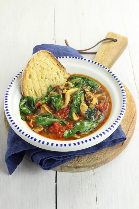Cucina e ricette seppie e bietoline