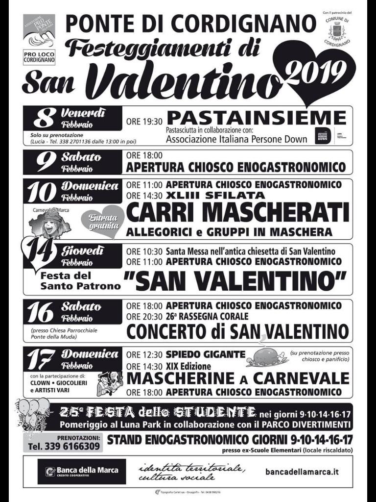 Cordignano-Festeggiamenti di San Valentino