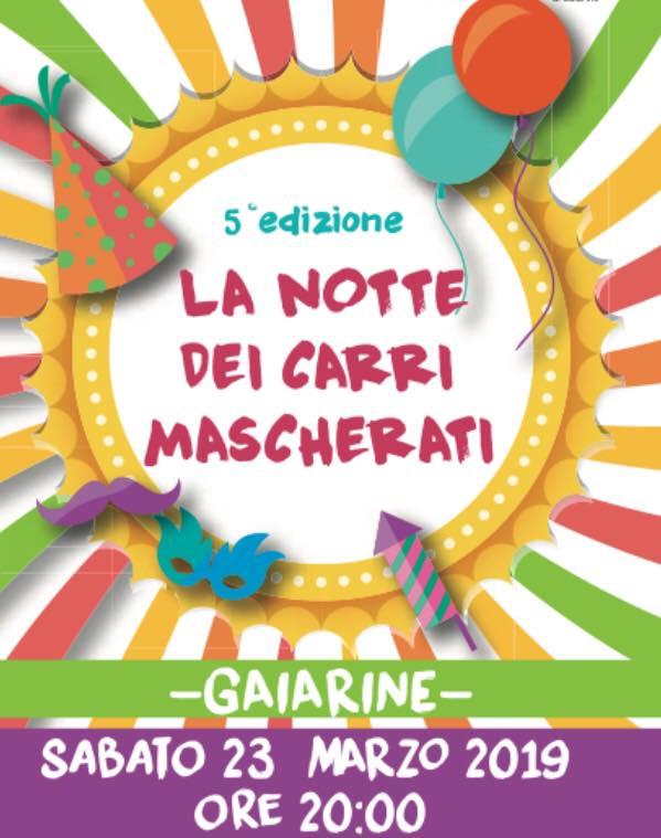 Gaiarine-La notte dei carri mascherati