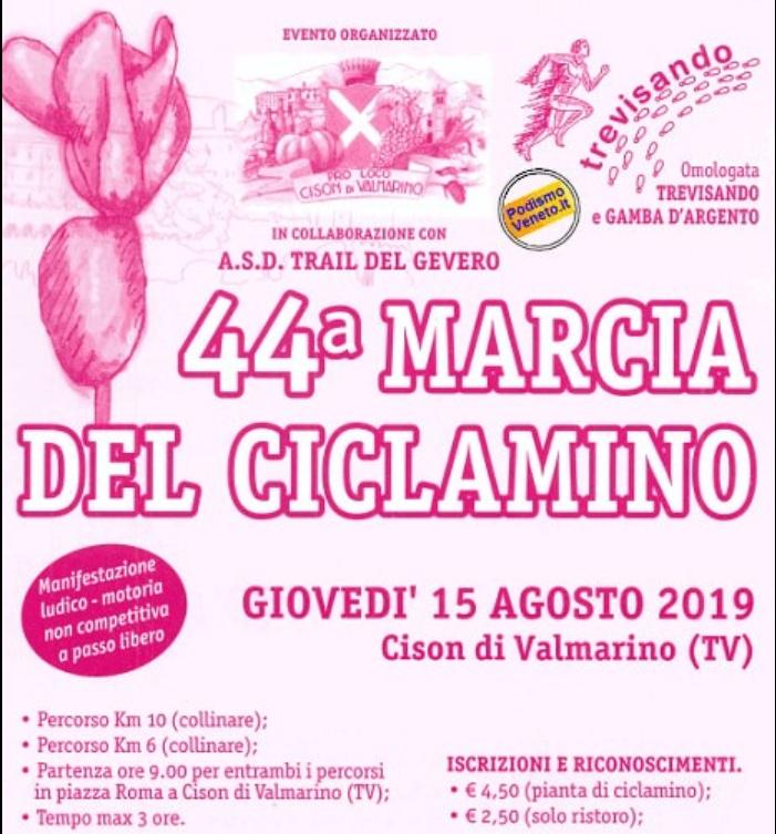 Calendario Podistico Veneto.44 Marcia Del Ciclamino Microturismo Delle Venezie