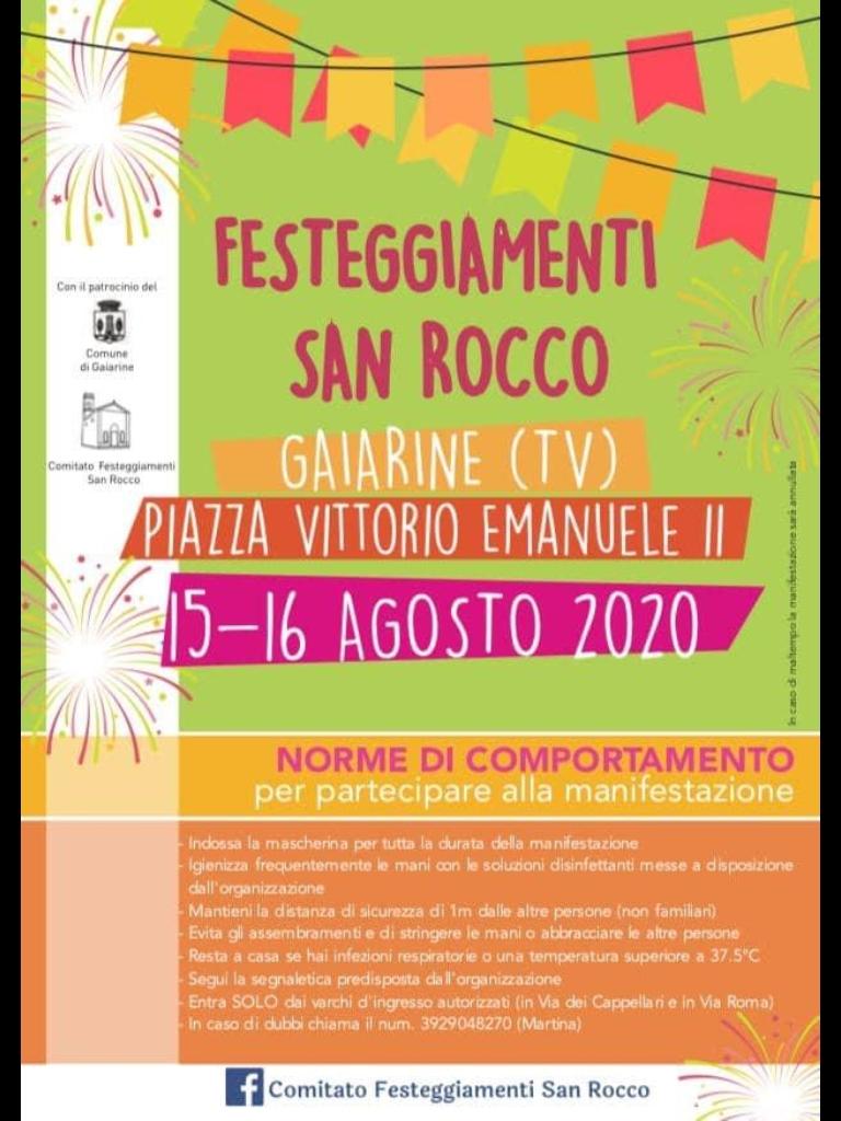 Gaiarine-Festeggiamenti San Rocco