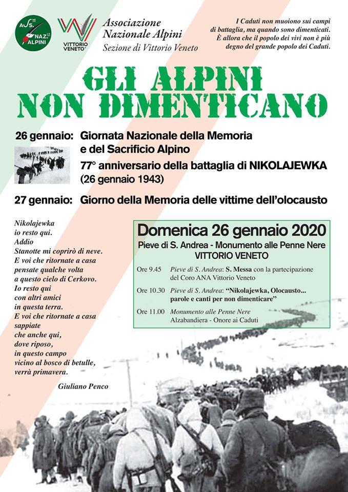 Vittorio Veneto-Gli Alpini non dimenticano