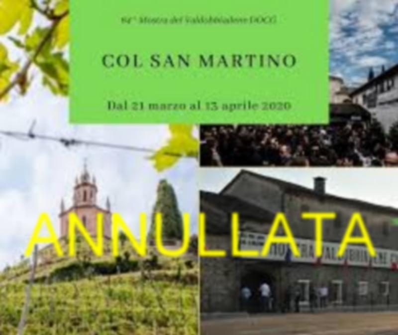 Valdobbiadene-64° Mostra del Prosecco docg Col San Martino annullata