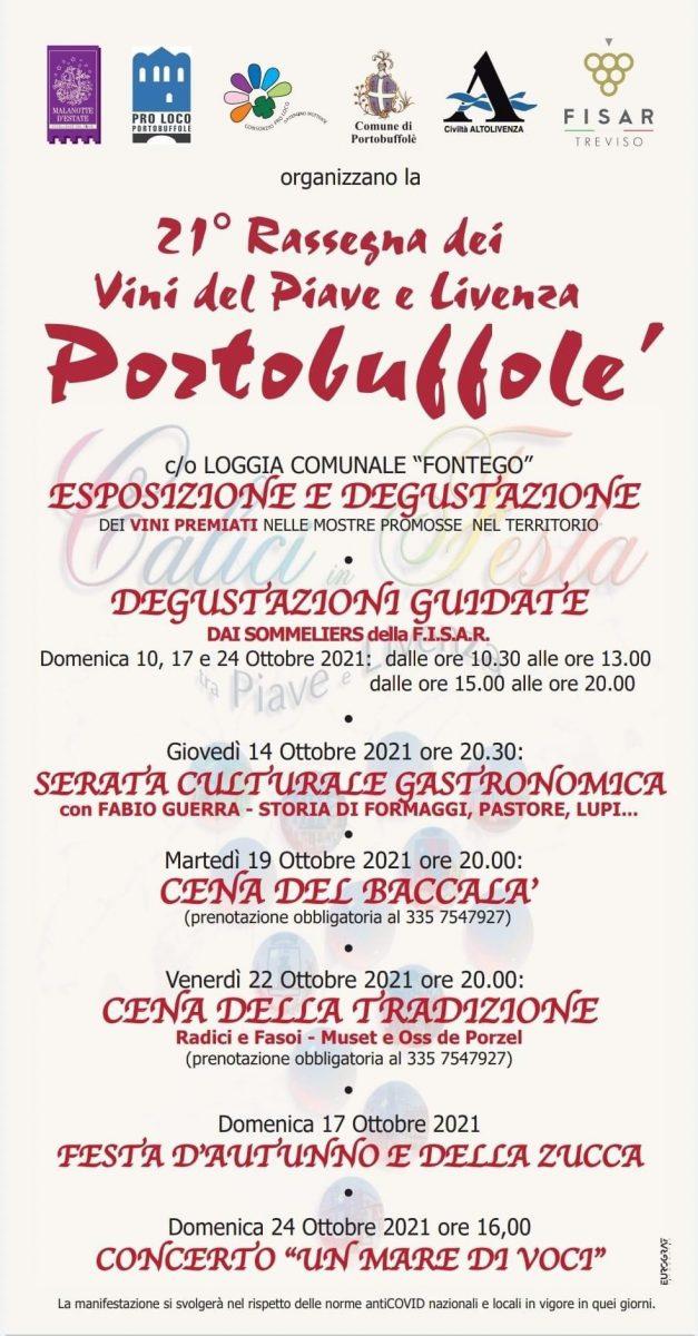 Portobuffolè-21° Rassegna dei vini del Piave e Livenza
